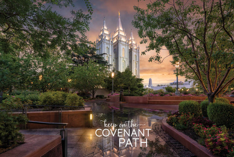Salt Lake Temple - A Covenant People 12x18 repositionable poster