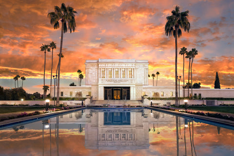 Mesa Arizona Temple- Sunrise 10x15 gallery wrap