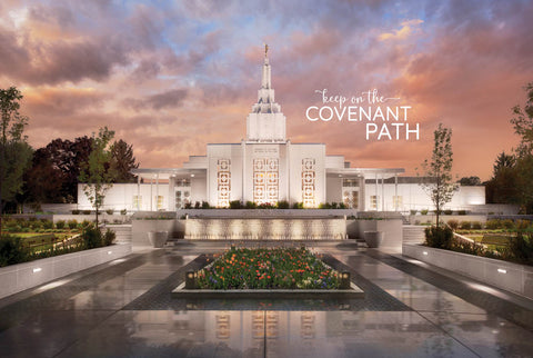 Idaho Falls Temple - Covenant Path 12x18 repositionable poster