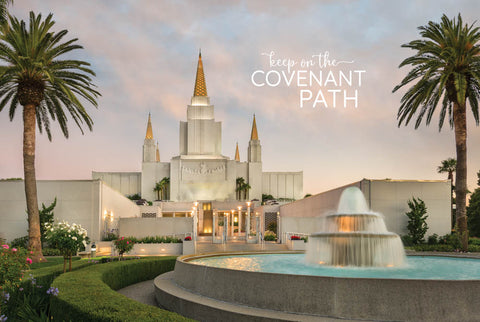 Oakland Temple - Fountain of Living Waters 12x18 repositionable poster