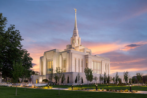 Ogden Temple - Eventide by Robert A Boyd