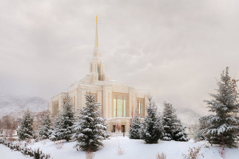 Ogden Temple - Winter Clouds by Robert A Boyd