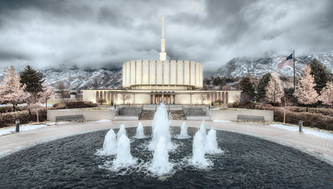 Provo Temple - Chrome Series by Robert A Boyd