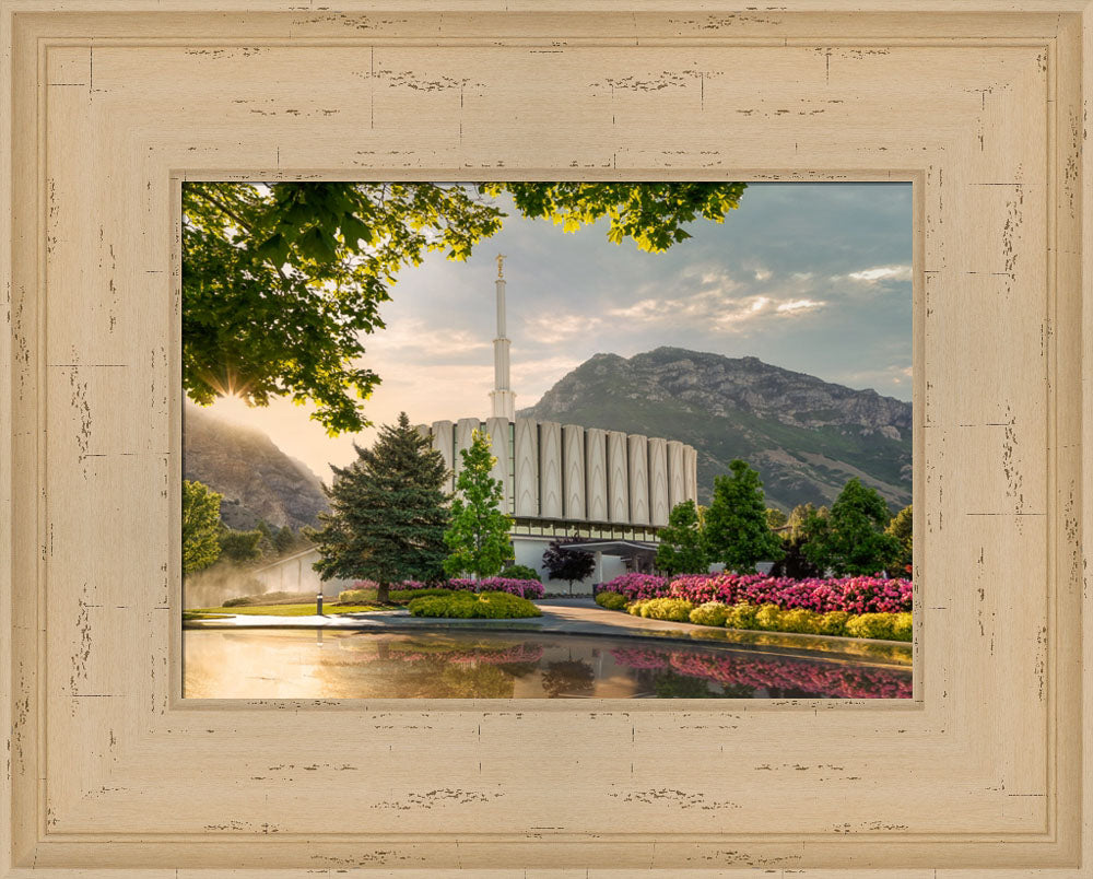 Provo Temple - Summer Splendor by Robert A Boyd