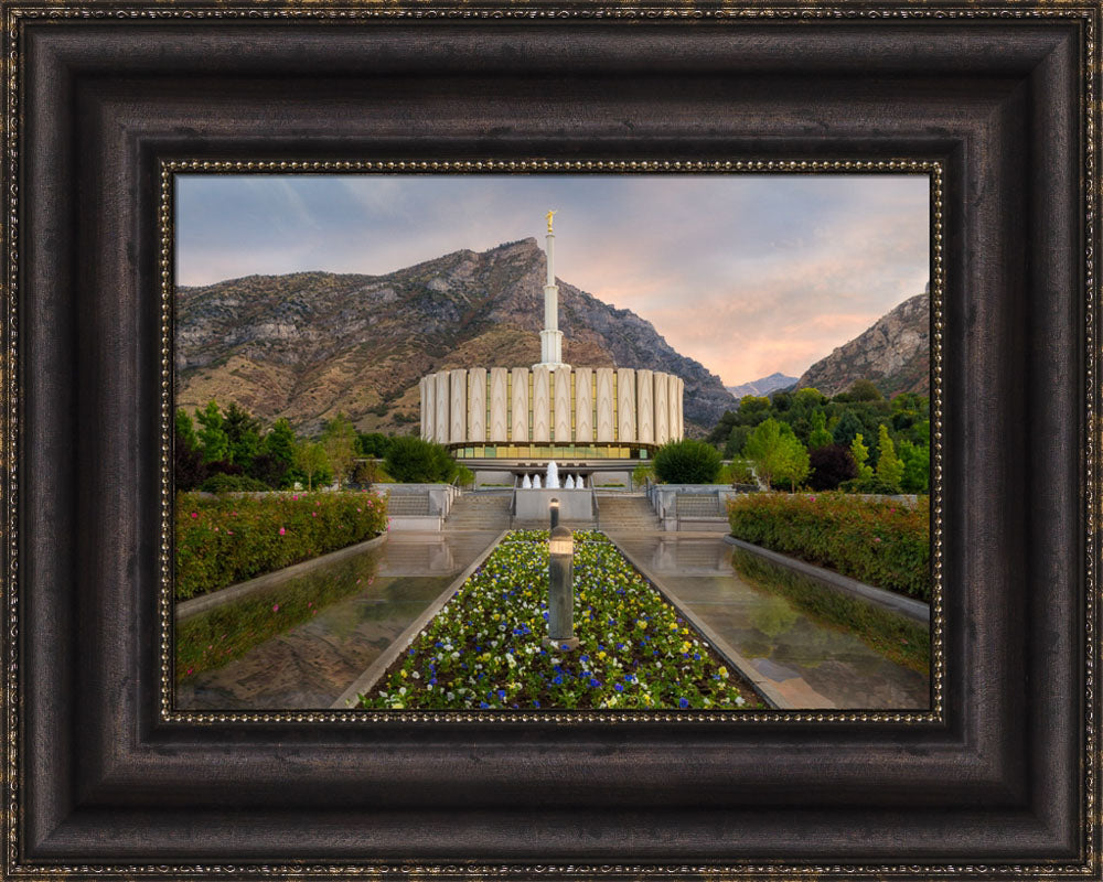 Provo Temple - Covenant Path by Robert A Boyd