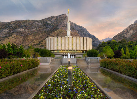 Provo Temple- Covenant Path by Robert A Boyd