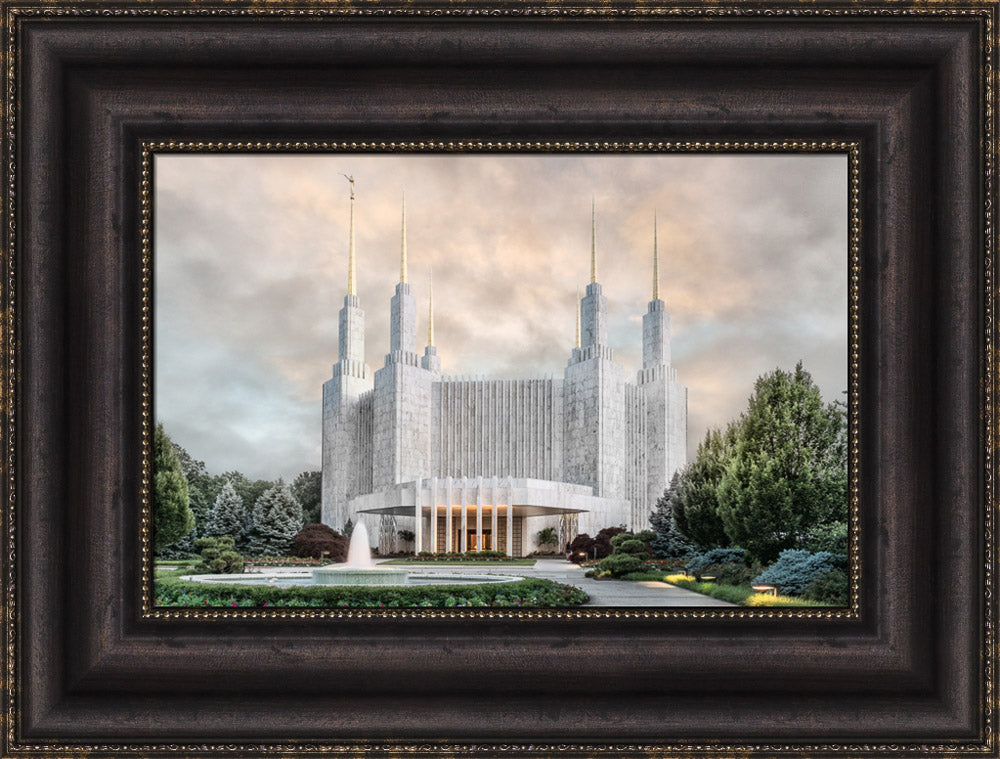 Washington DC Temple - Chrome Series by Robert A Boyd
