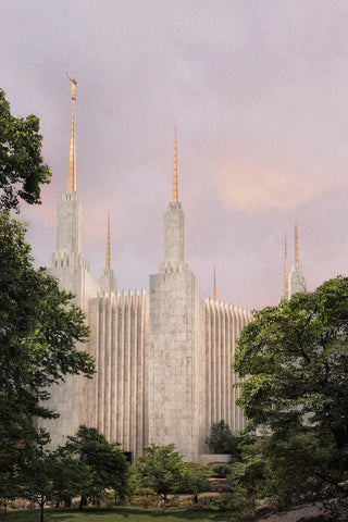Washington DC Temple - Side Textured by Robert A Boyd