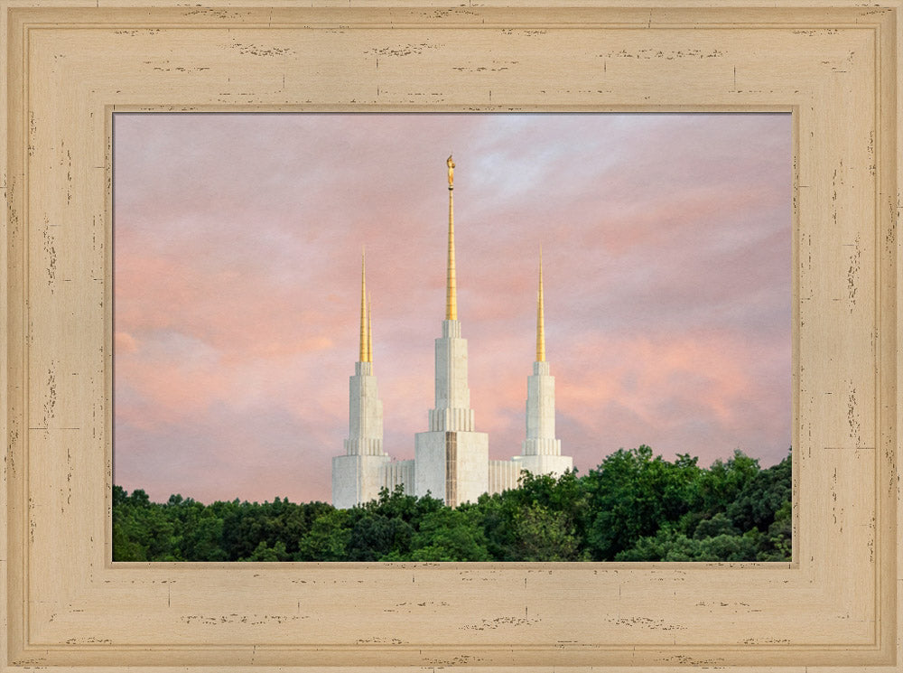 Washington DC Temple - Spires by Robert A Boyd