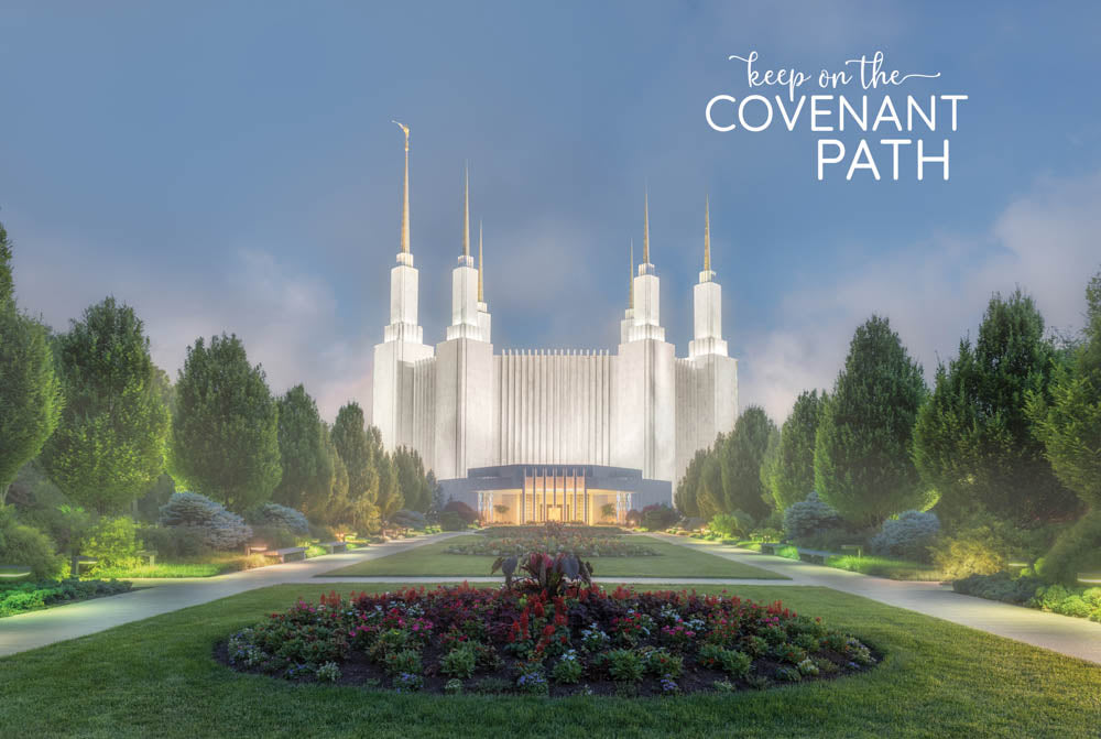 Washington DC Temple - Evening Mist 12x18 repositionable poster