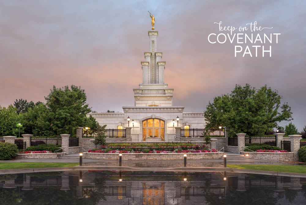 Columbia River Temple - Covenant Path 12x18 repositionable poster