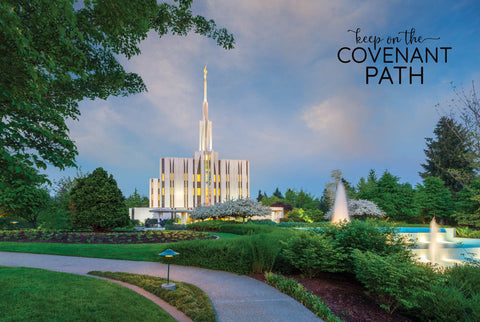 Seattle Temple - Fountains 12x18 repositionable poster