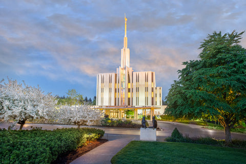 Seattle Temple - Garden Path by Robert A Boyd