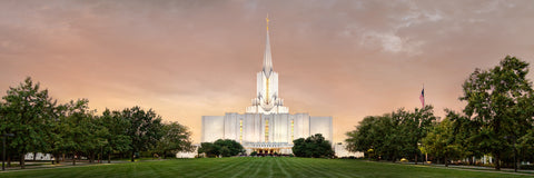 Jordan River Temple - Evening Panoramic by Robert A Boyd