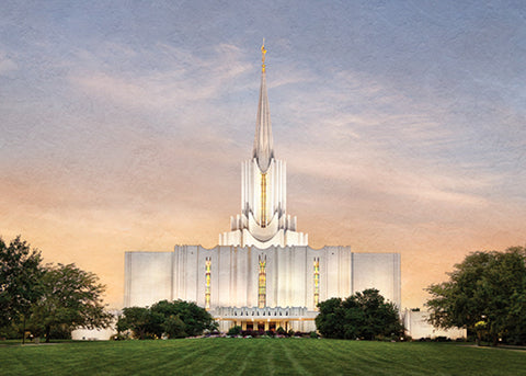 Jordan River Temple - Holy Place Series 5x7 print