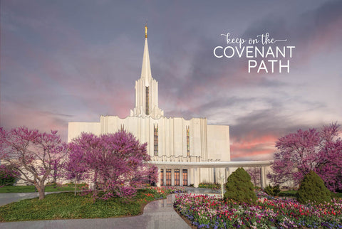 Jordan River Temple - Covenant Path Series 12x18 repositionable poster