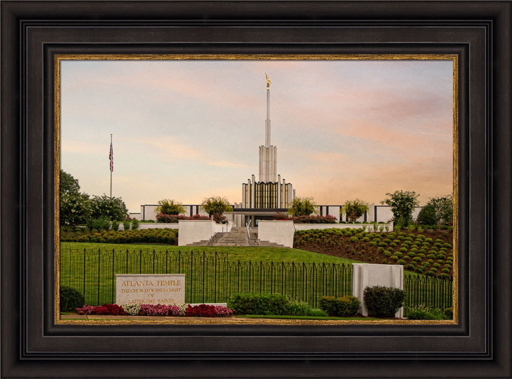 Atlanta Temple - Summer Morning by Robert A Boyd