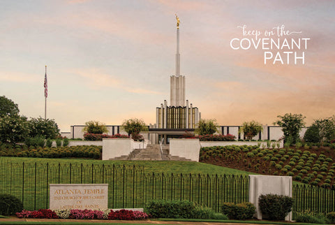 Atlanta Temple - Summer Morning 12x18 repositionable poster