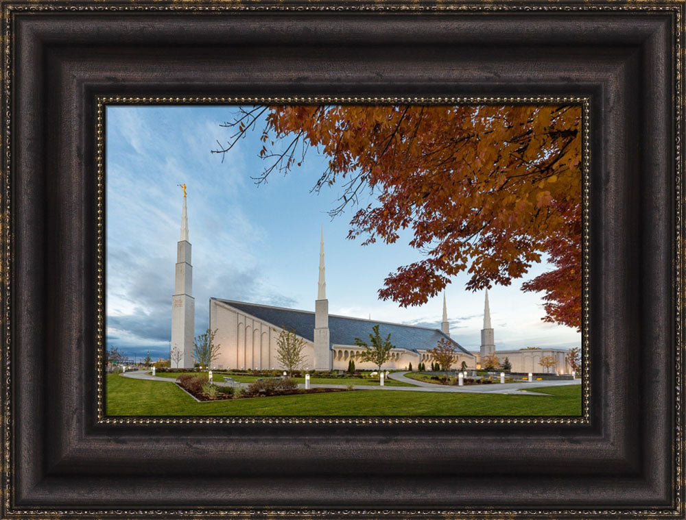 Boise Temple - Fall Trees by Robert A Boyd