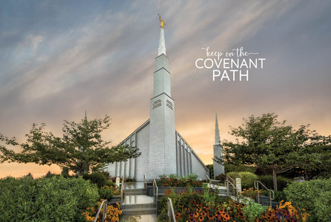 Boise Temple - Covenant Path 12x18 repositionable poster