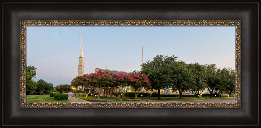 Dallas Temple - Panoramic Trees by Robert A Boyd