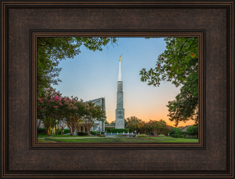 Dallas Temple - Sunrise by Robert A Boyd