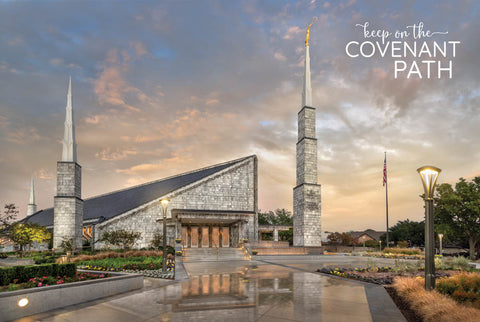 Dallas Temple - Covenant Path 12x18 repositionable poster