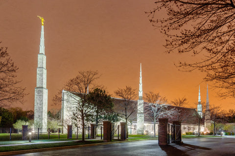 Chicago Temple - Evening Glow by Robert A Boyd