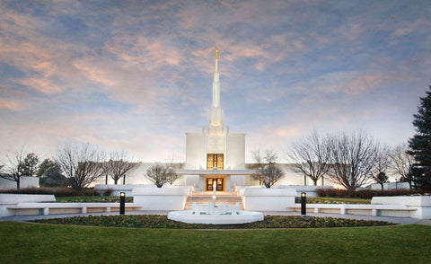 Denver Temple - Winter Sky by Robert A Boyd