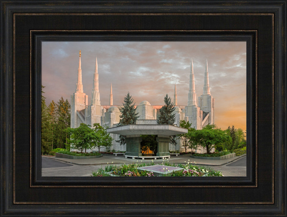 Portland Temple - Eventide by Robert A Boyd
