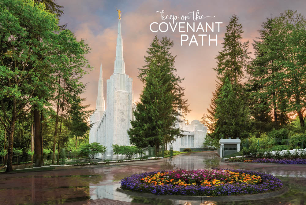 Portland Temple - Covenant Path 12x18 repositionable poster
