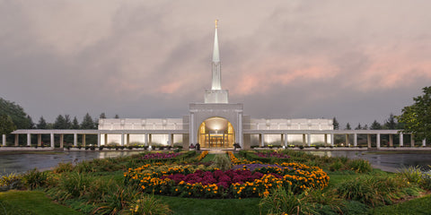 Toronto Temple - Autumn Sky by Robert A Boyd