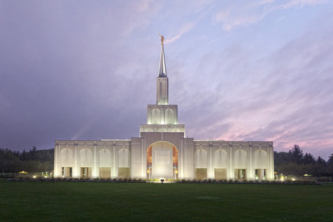 Toronto Temple - Lavender Sky by Robert A Boyd