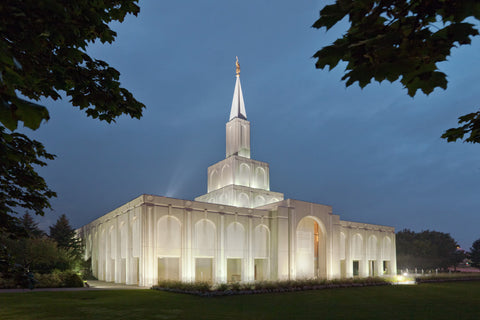 Toronto Temple - Evening by Robert A Boyd