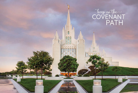 San Diego Temple - Covenant Path Series 12x18 repositionable poster