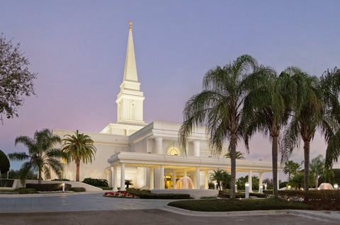Orlando Temple - Evening Side View by Robert A Boyd