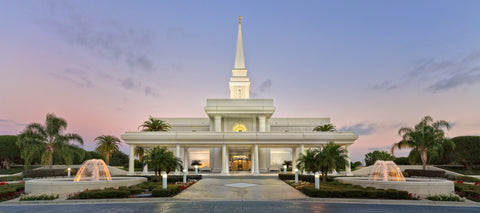 Orlando Temple - Fountains by Robert A Boyd