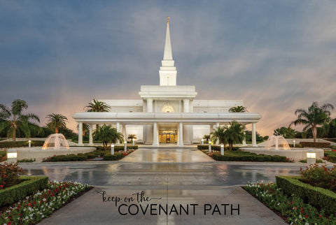 Orlando Temple - Covenant Path 12x18 repositionable poster
