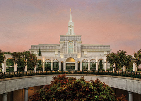 Bountiful Temple - Fall Atrium 5x7 print