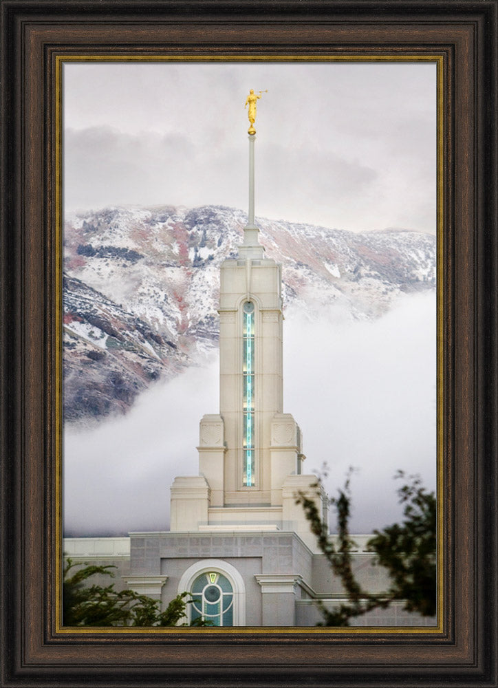 Mount Timpanogos Temple- Steeple by Robert A Boyd
