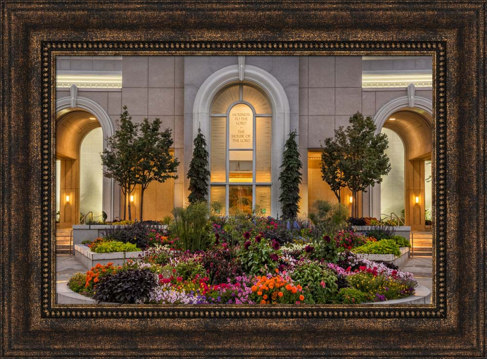 Mt Timpanogos Temple - Garden Path by Robert A Boyd