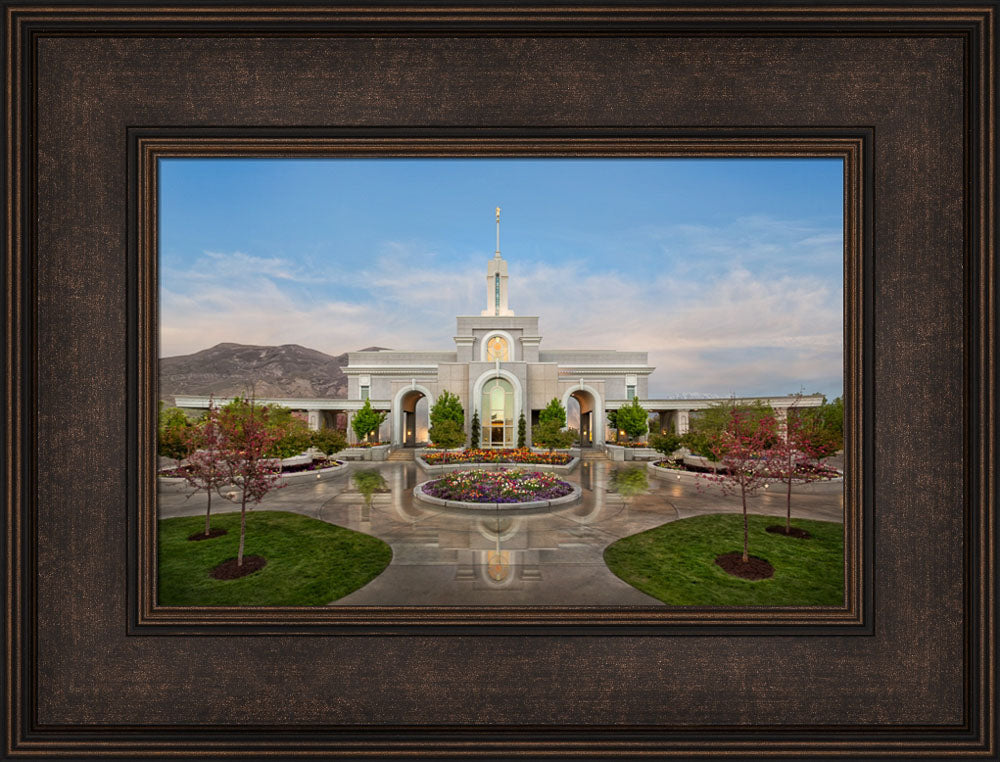 Mt Timpanogos Temple - Eden by Robert A Boyd