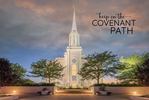 St. Louis Temple - Evening Path 12x18  repositionable poster