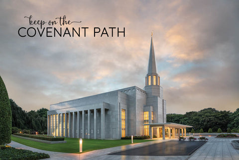 Preston Temple - Covenant Path 12x18  repositionable poster