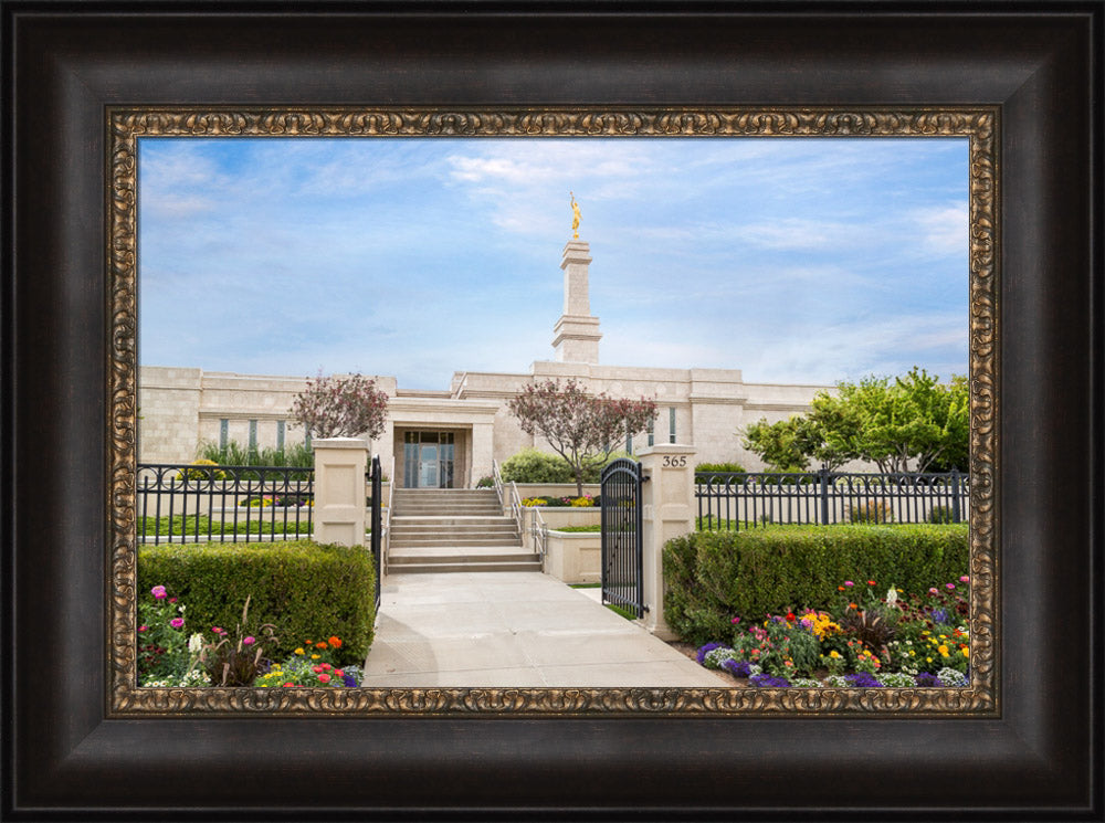 Monticello Temple - Summer Flowers by Robert A Boyd