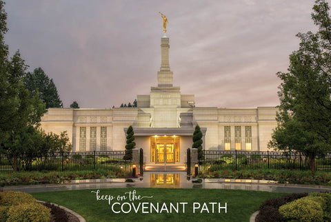 Spokane Temple - Covenant Path 12x18 repositionable poster