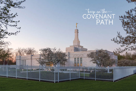 Columbus Temple - Evening Glow 12x18 repositionable poster