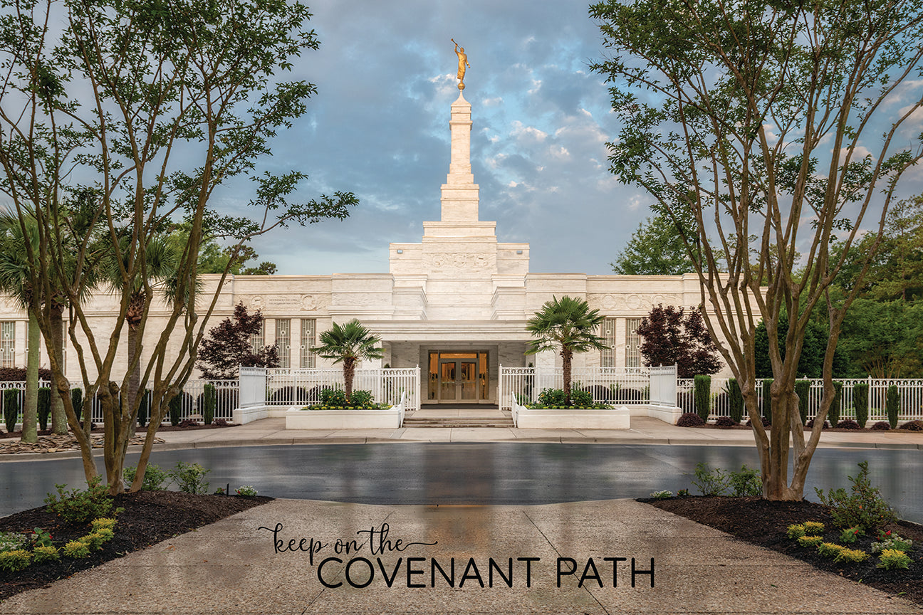 Columbia Temple - Covenant Path 12x18 repositionable poster