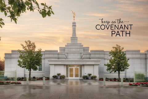 Regina Temple - Covenant Path 12x18  repositionable poster