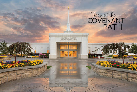 Billing Temple - Covenant Path 12x18  repositionable poster
